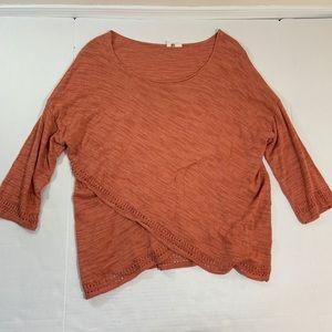 Anthropologie Moth BOHO Blouse Top Shirt L